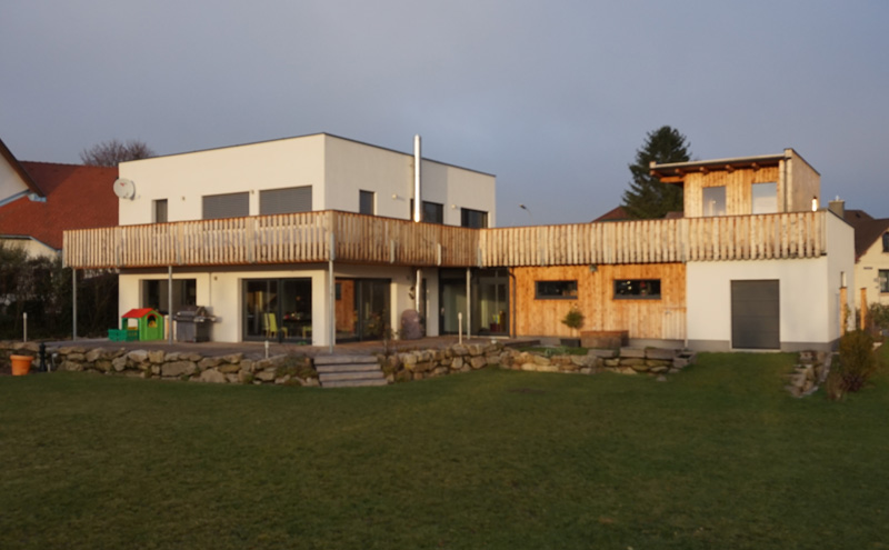 Hausbau - Holzriegel - Fertigteilhaus