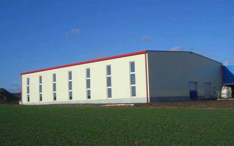 Hochbau - Lagerhalle Baumeister Massivbau Massivhaus