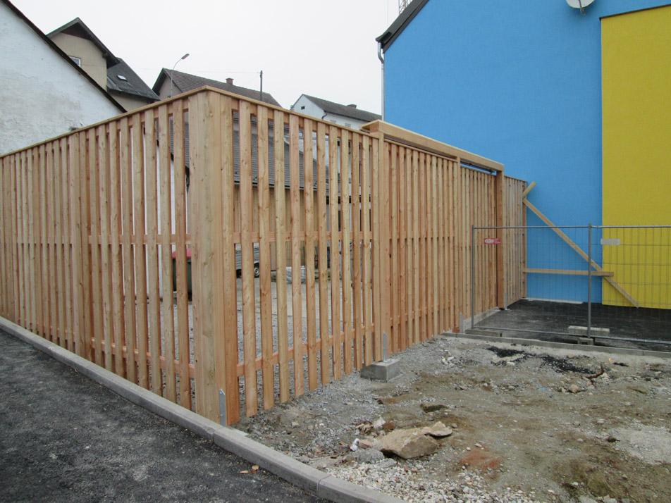Zaun Holzriegel Hausbau Zimmerei Baumeister Fertigteilhaus Holzbau Massivbau